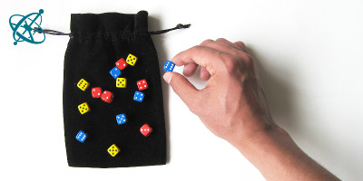 Sciensation hands-on experiment for school: Dice half-life ( chemistry, maths, radioactive decay, exponential decay,  logarithm)